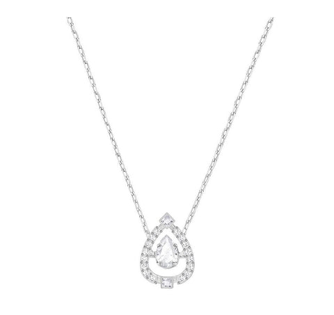 Swarovski SPARKLING DANCE PEAR NECKLACE, White, Rhodium -5451992