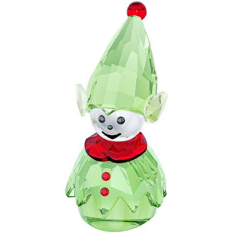 Swarovski Green Crystal Christmas Figurine SANTA'S HELPER #5059034