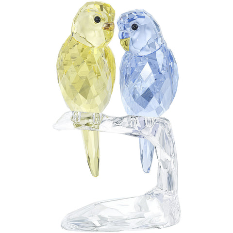 Swarovski Crystal Figurine Pair of Birds BUDGIES, Color -5004725