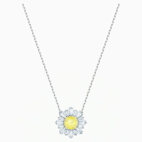 Swarovski SUNSHINE PENDANT, Yellow, Rhodium Plated -5459588
