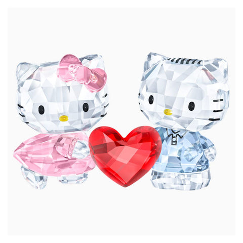 Swarovski Crystal Love Figurines HELLO KITTY & DEAR DANIEL - 5428570