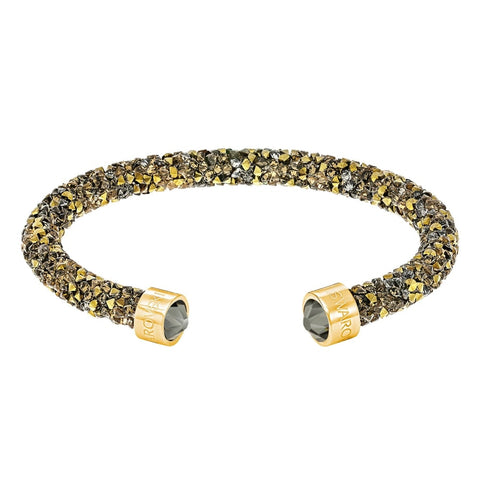 Swarovski CrystalDust Cuff Bracelet, Multi-Colored Gold, Medium-5348101
