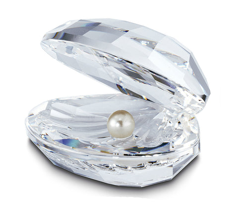 Swarovski Clear Crystal Figurine SHELL WITH PEARL #14389