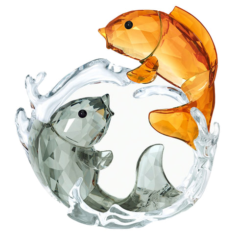 Swarovski Large Color Figurine DOUBLE CARPS -5376621