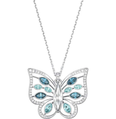 Swarovski FAUSTINA Pendant Butterfly Necklace, Rhodium- 5227313