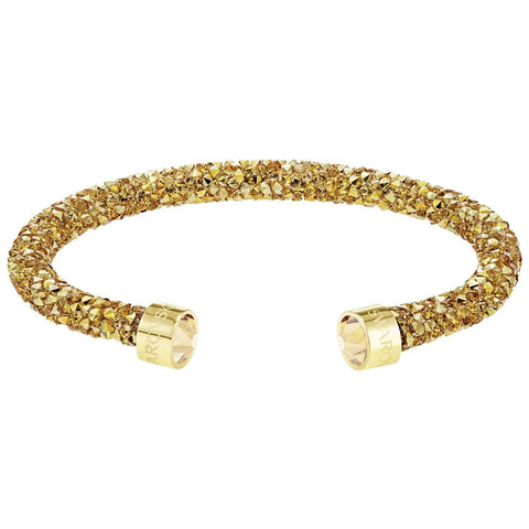 Swarovski CrystalDust Cuff Bracelet, Yellow Gold, Medium -5385827