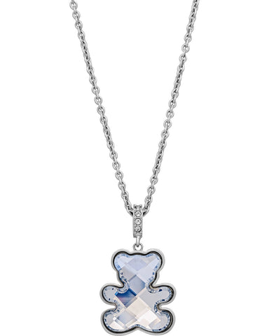 Swarovski TEDDY BEAR PENDANT, White, Rhodium - 5410280