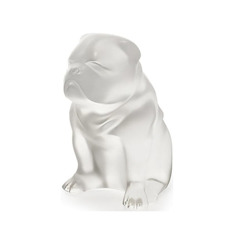 Lalique Sculpture Clear Figurine Dog BULLDOG #10520200