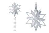 Swarovski Clear Crystal Silver Tone CHRISTMAS TREE TOPPER / Ornament #5064262