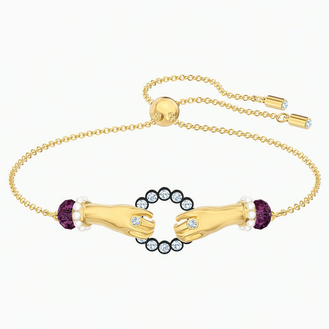 Swarovski TAROT MAGIC BRACELET, Multi-color, Gold-tone, M -5490914