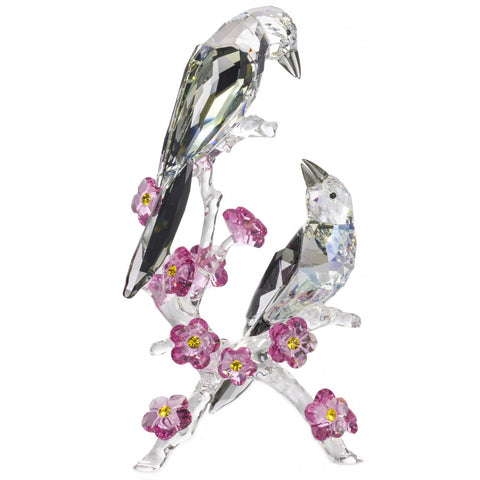 Swarovski Crystal Birds Figurine Tutelary Spirit, Loving Magpies -5004639