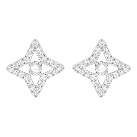 Swarovski Clear SPARKLING DANCE STAR Pierced Earring, Rhodium -5364218