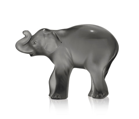 Lalique Sculpture Grey Figurine TIMORA ELEPHANT #10492700