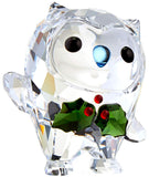 Swarovski Crystal OWL Christmas Figurine HOOT- HAPPY HOLIDAYS 2018 -5393324