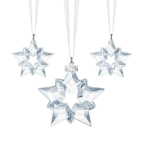 Swarovski Set Christmas Star 2019 Ornaments Set of 3 -5429600