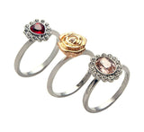 Swarovski Crystal MIMOSA Set of 3 Rings