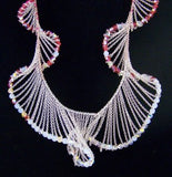 Swarovski Pink & Clear Crystal LEVITY Long Necklace 1040868 - Zhannel  - 2