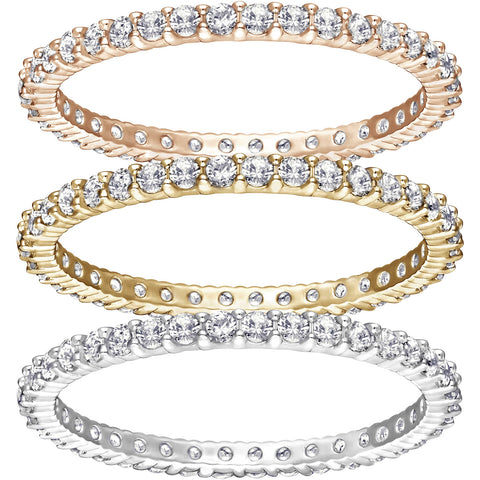 Swarovski Tri-Color Set of 3 Rings VITTORE Small/52/6 - 5184652