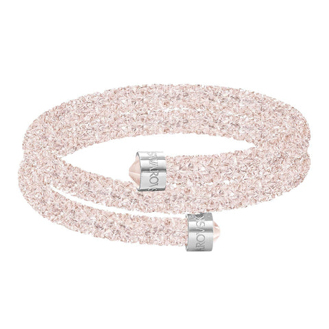 Swarovski CrystalDust Double Bangle Bracelet, Vintage Rose, Small-5292438