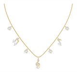 Swarovski PLEASANT NECKLACE, Music Notes, Gold Tone -5491655