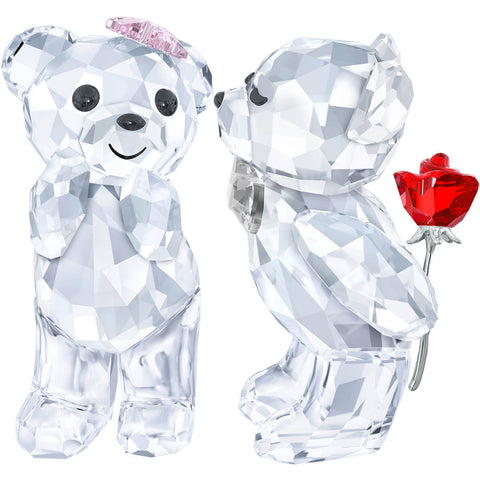 Swarovski Crystal Figurine Kris Bears Couple A LOVELY SURPRISE -5268511