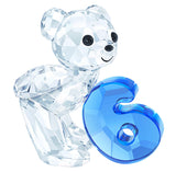 Swarovski Crystal Figurine KRIS BEAR NUMBER SIX Number 6 Birthday #5108728