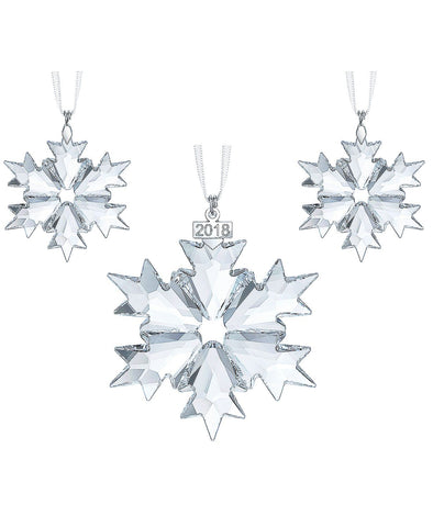 Swarovski Christmas SNOWFLAKES 2018 Ornaments Set of 3 #5357983