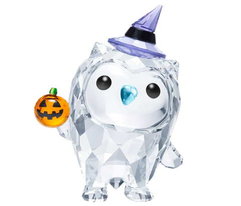 Swarovski Crystal OWL Figurine HOOT- HAPPY HALLOWEEN -5464862