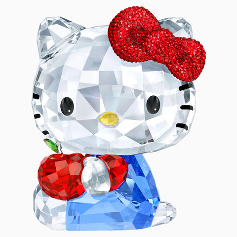 Swarovski Crystal Figurines HELLO KITTY RED APPLE, Large - 5400144