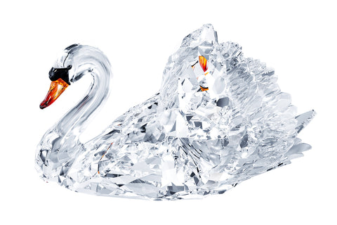 Swarovski Clear Crystal Figurine GRACEFUL SWAN, Large - 1141713