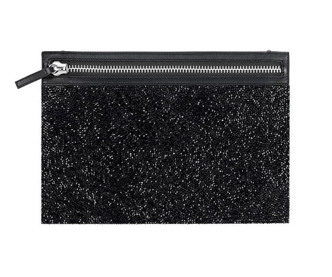 Swarovski Black Crystals GLAM ROCK BAG Evening Party Bag #5203523