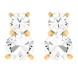 Swarovski Pierced Earrings SOLITAIRE Studs Earrings Gold Plated, Clear - 5128809
