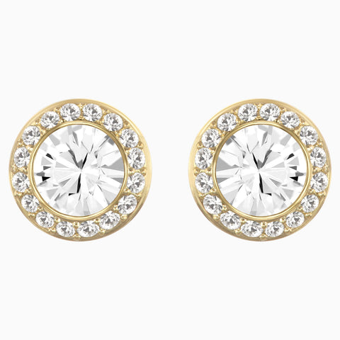 Swarovski Clear Crystal ANGELIC Pierced Earring, Yellow Gold -1081941