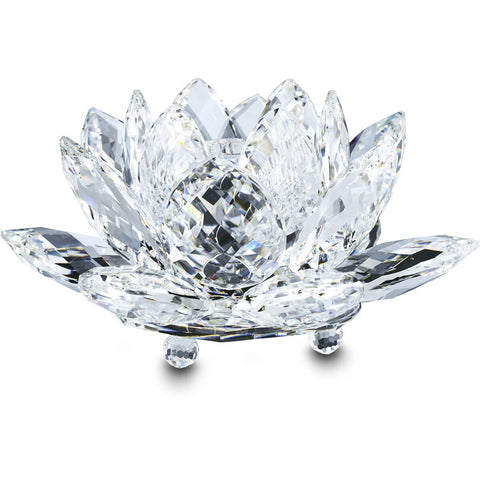 Swarovski Crystal WATERLILY CANDLEHOLDER, Large, Clear - 5084104