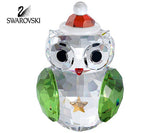 Swarovski Crystal Christmas Figurine Santa ROCKING OWL  #1140812 New