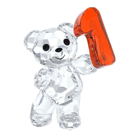 Swarovski Crystal Figurine KRIS BEAR NUMBER ONE Number 1 Birthday #5063335