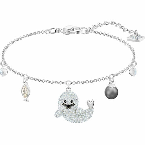 Swarovski POLAR SEAL BRACELET, Multi-color, Rhodium Plated- 5491553