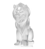 Lalique Sculpture CLEAR BAMARA LION #1165600