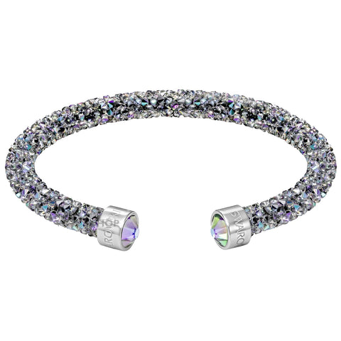 Swarovski CrystalDust Cuff Bracelet, Multi-Color Stainless Steel, Medium-5273639