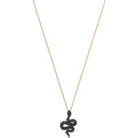 Swarovski LESLIE NECKLACE SNAKE Pendant, Rose Gold - 5384396