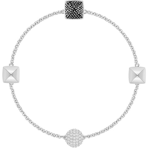 Swarovski Remix Collection SPIKE STRAND, Black, Rhodium -5365762