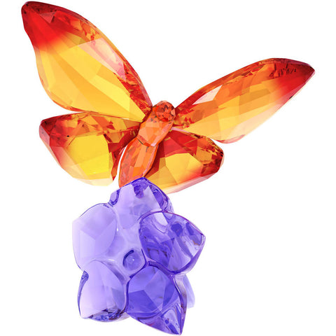 Swarovski Color Crystal Figurine Butterfly On Flower -5374943