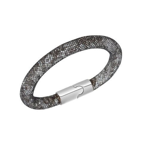 Swarovski Clear Crystal Grey Bracelet STARDUST Palladium Medium #5100095