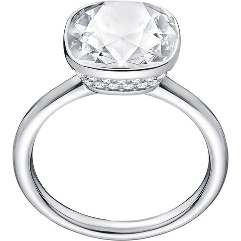 Swarovski Clear Crystal LATTITUDE COCKTAIL RING, Rhodium