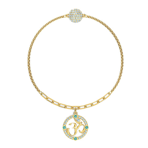 Swarovski REMIX COLLECTION OM STRAND, Gold Tone, Medium -5528717
