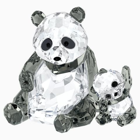 Swarovski Crystal Figurines PANDA MOTHER WITH BABY -5063690
