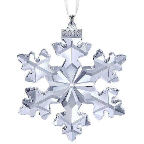 Swarovski Clear Crystal Christmas Ornament 2016 Christmas Snowflake #5180210