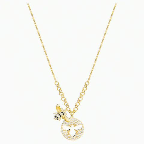 Swarovski LISABEL NECKLACE Bee Pendant, Yellow Gold Tone -5365641