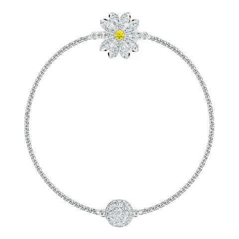 Swarovski REMIX COLLECTION FLOWER STRAND, White, Rhodium, Large -5535299
