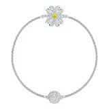 Swarovski REMIX COLLECTION FLOWER STRAND, White, Rhodium, Medium -5520651